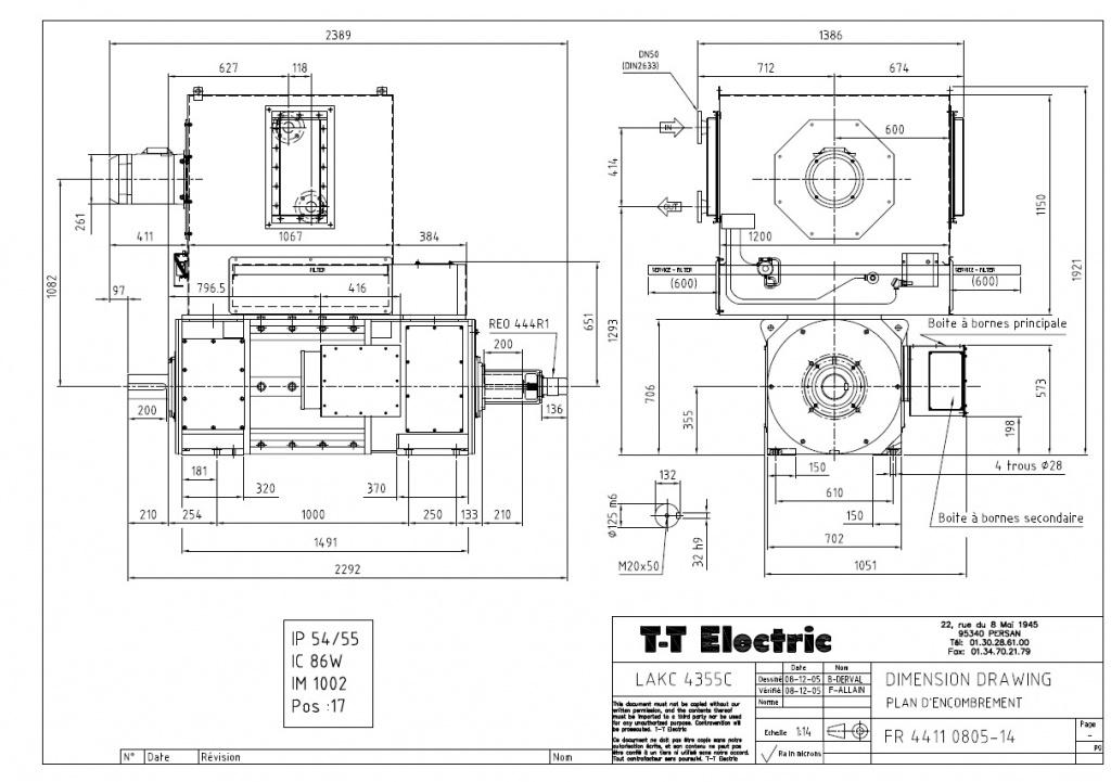 Электродвигатель постоянного тока T-T Electric LAKC 4355C 550кВт