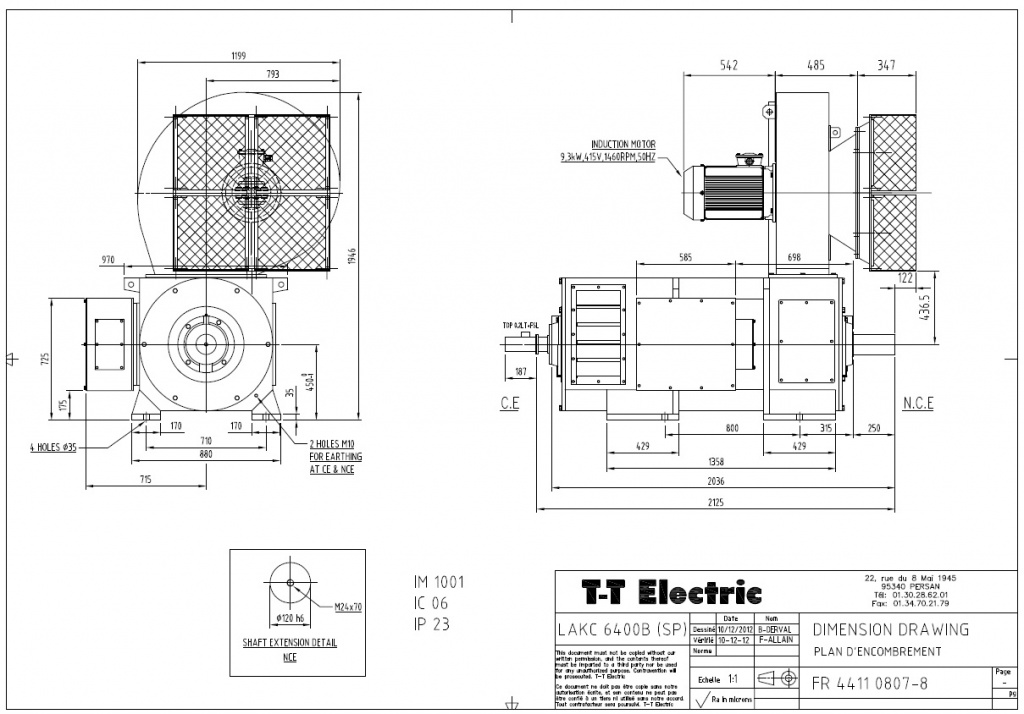 Электродвигатель постоянного тока T-T Electric LAKC 6400B 288кВт